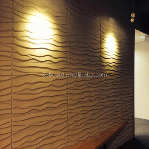 Fireproof function art deco wall panels beautiful 3d brick wood tv wall covering panels