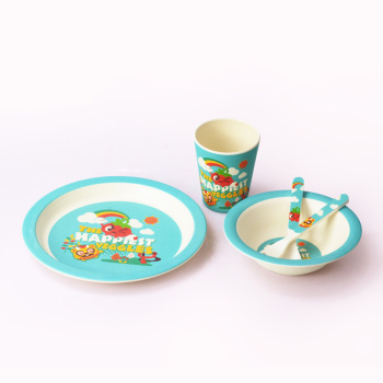 Superior Quality Baby Kids Bio Bamboo Fiber Dinner Set For Kids Wholesale