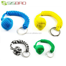 Atacado paracord self defense monkey fist keychain chaveiro
