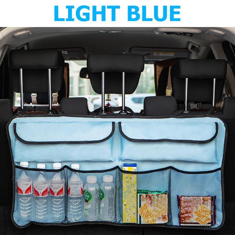 Автомобильный органайзер для багажника, регулируемая сумка для хранения на заднем сидении, Чистая сумка высокой емкости, Экологически чист...(Китай)