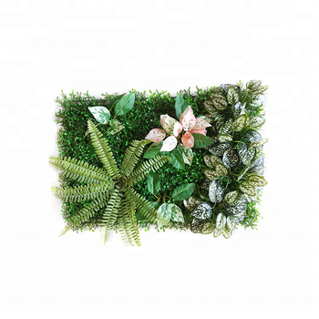 2018 Unique Design Real Touch Plastic Artificial Plants Green Wall