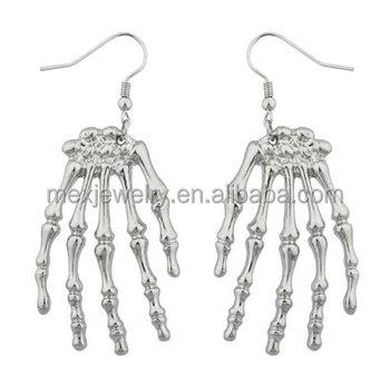 ffbcbd1df37c Accesorios Góticos Esqueleto Mano Goth Halloween Pendientes - Buy ...