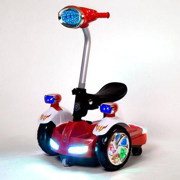 Bluetooth Jarak Jauh Pengendali Anak Naik Skuter Keseimbangan Listrik Dengan LED Ringan