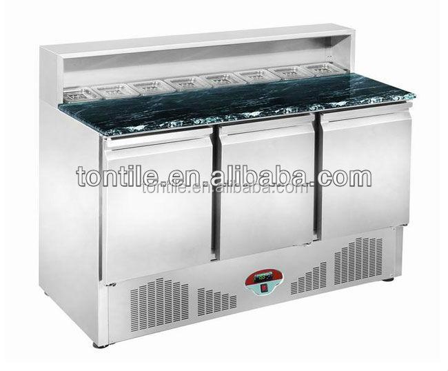 Sl1365dr3 g1 table de marbre salade bar quipement de for Equipement de cuisine pour restaurant