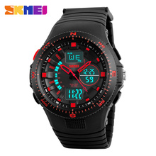 Updated hot skmei fashion watch instruction manuals men wristwatch with two zone times