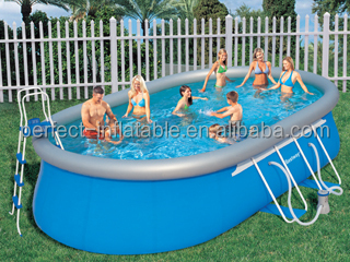 Dynamic cool blue large inflatable swimming pool with steel holders and different sharp