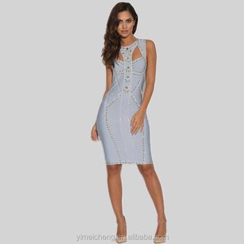 2017 New Stylish Fashion Design Top Quality Sleeveless Tight Sexy Short Dress