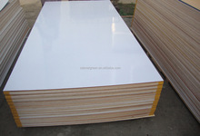 best quality cheap price 12mm poplar core building construction white pvc laminated plywood