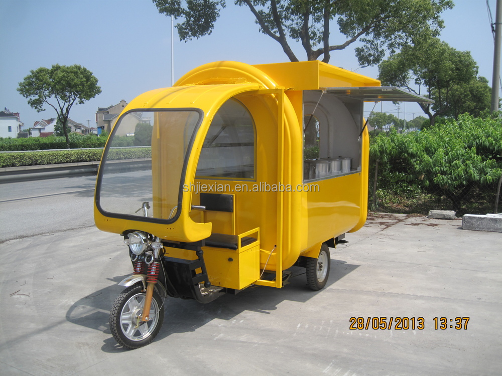 New condition electric 3 wheel outdoor mobile restaurant for Motorized carts for sale