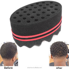 OEM Accepted Professional 8 Shape Wave Barber Foam Hair Twist Curl Sponge Brush