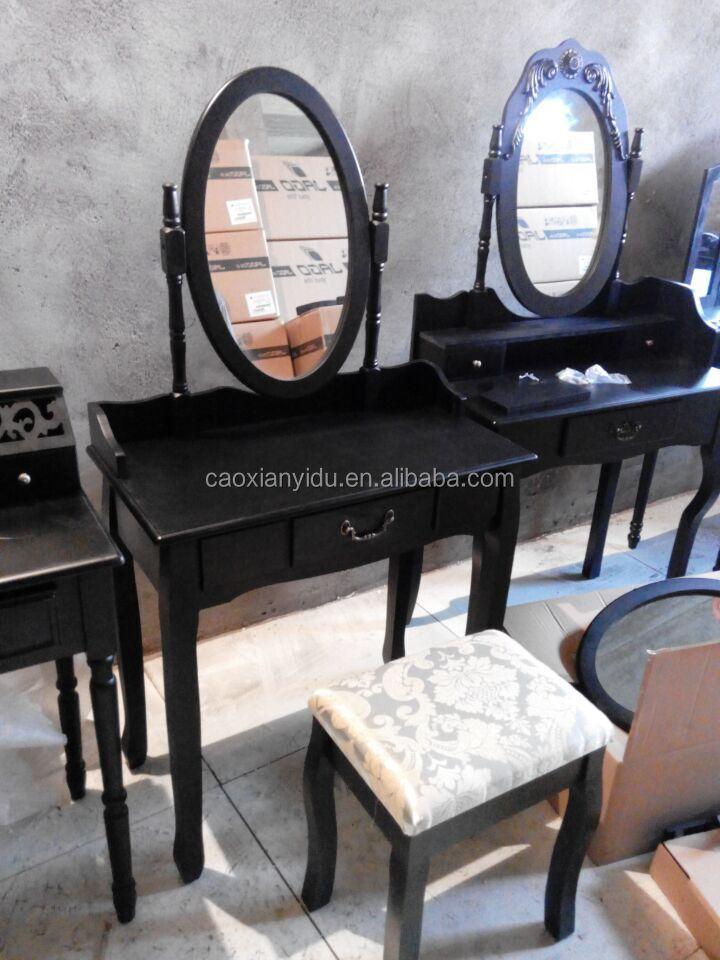 Wit kaptafel met swing spiegel slaapkamer meubels shabby vintage stijl ...