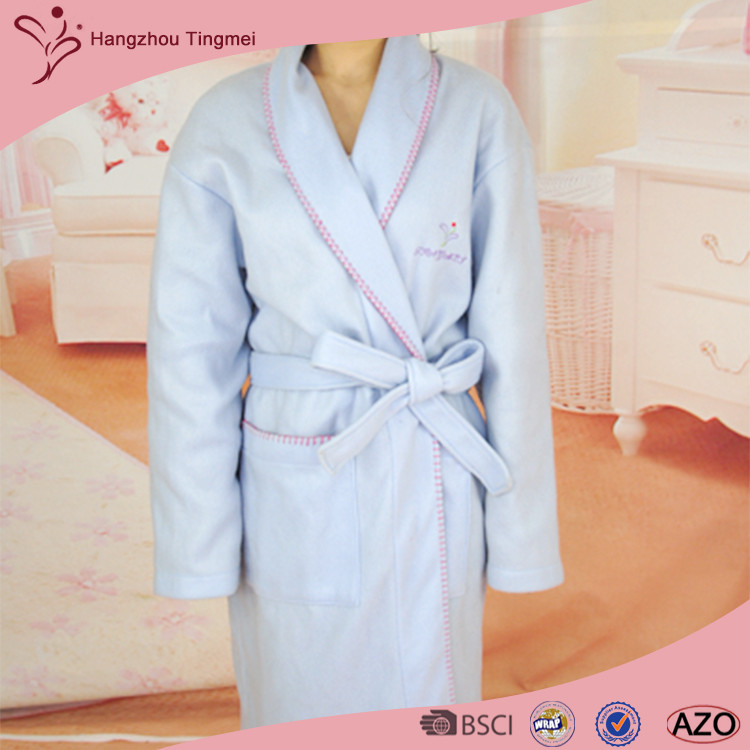 Eco-friendly soft anti-bacterial Cashmere Bathrobe