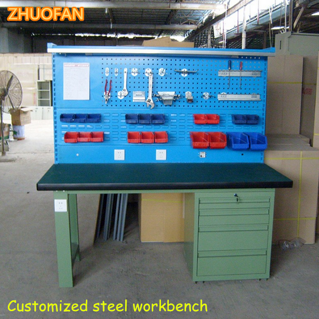 Very cheap furniture ral blue green 10ft metal work bench