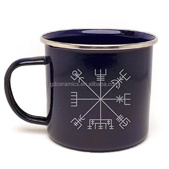 custom logo printing enamel metal mug campfire mug metal tin mug