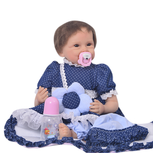 KEIUMI 22 Inch Real Looking Reborn Baby Dolls Full Silicone viny