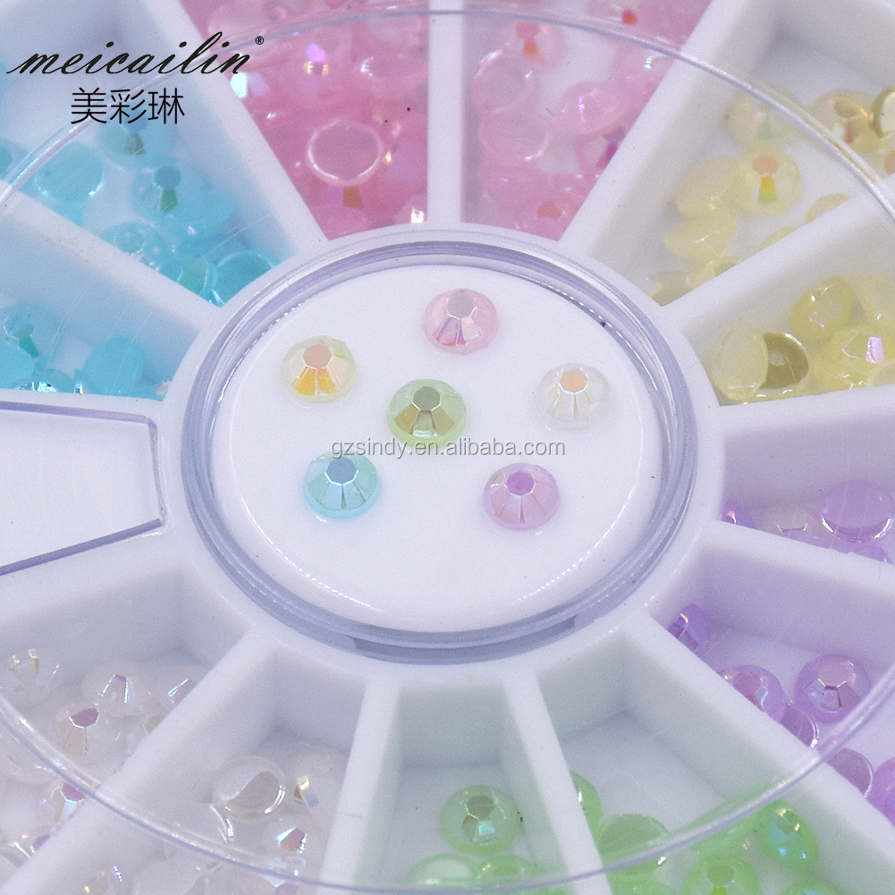 Flat Resin Rhinestone Shape Sticker decoration for Nail art beauty