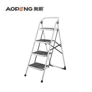 4 step thickened folding steel ladder with TUV/GS