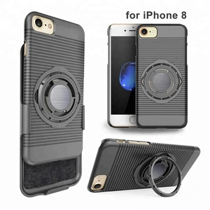 Cell phone accessories holster combo case 8 function in 1 for iphone x case with magnet/ sport running armband