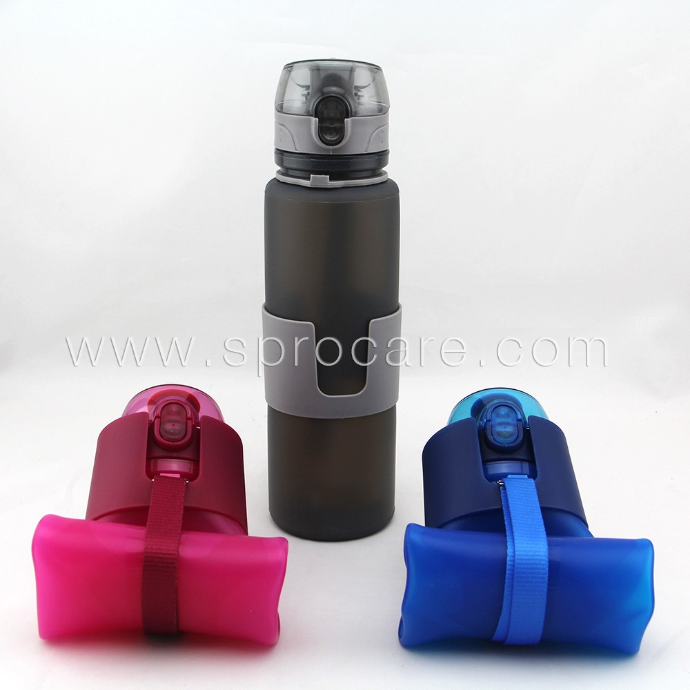 Foldable Water Bottle >> Collapsible Silicone Sports Water Bottle,Bpa Free,22oz - Buy Nike Bpa Free Water Bottle ...