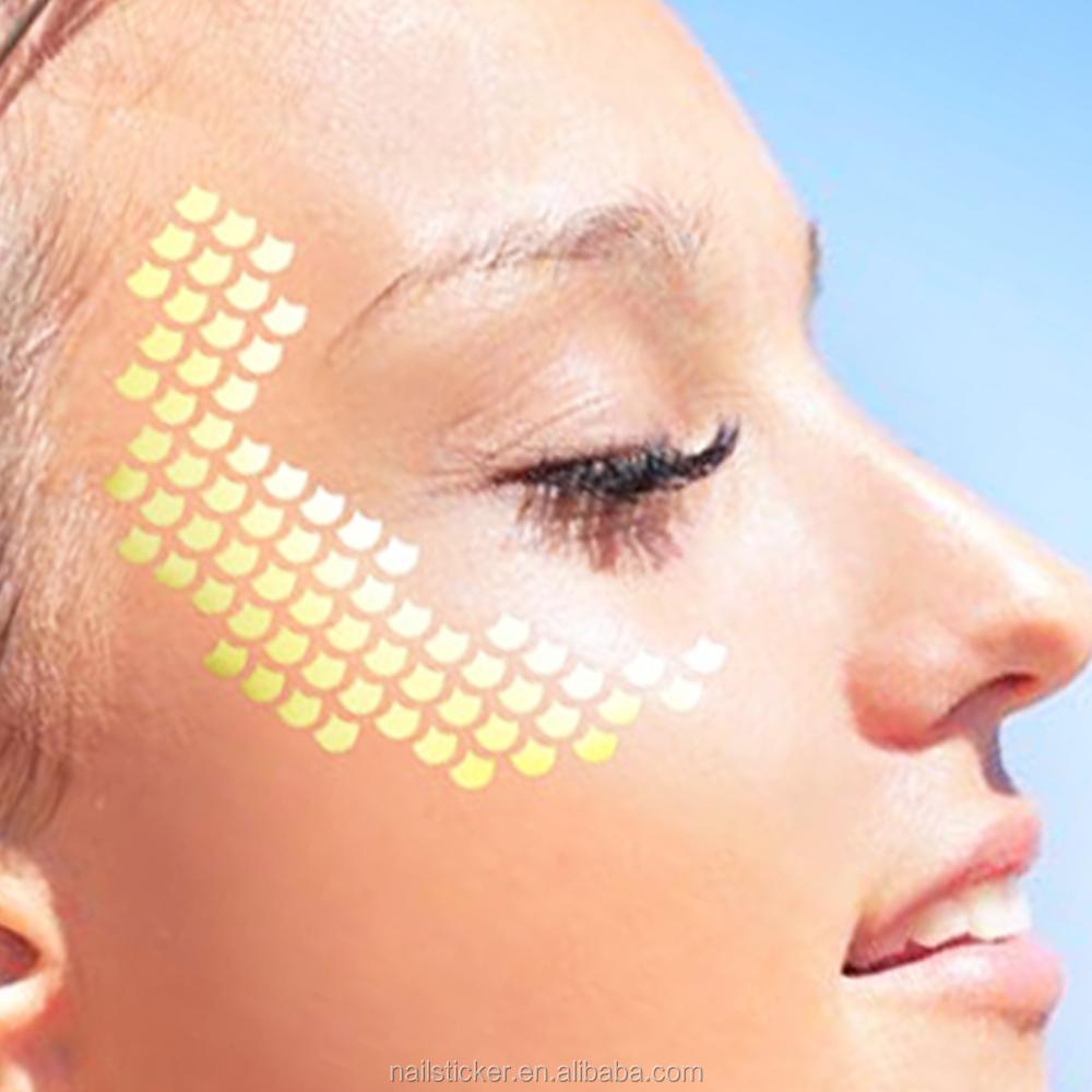Hot sale foil gold face decor temporary tattoo