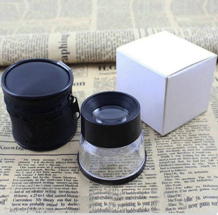 BM-MG16803 10x Pocket Analysis Cylinder Jewellery Loupe measure plastic bottle with Measuring Scale Reticle magnifier
