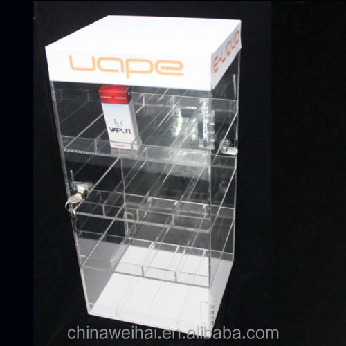 NEW! ACRYLIC LOCKING DISPLAY CASE -E-LIQUID/VAPE PENS/E-CIG JUICE BOTTLE CABINET