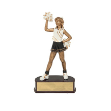 New resin cheerleading kid figure statues