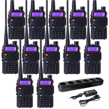 Hot sell 12 pcs BAOFENG UV-5R UHF 400-520MHz and VHF 136-174MHz two way radio