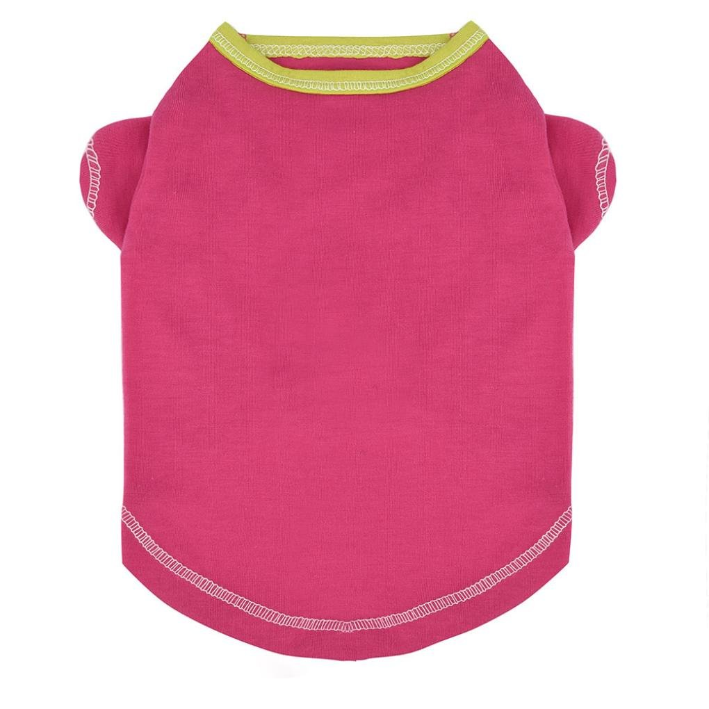 Howstar Pet Clothes For Dogs Summer Breathable Shirts Dog Cat Vest T-Shirt Puppy Apparel