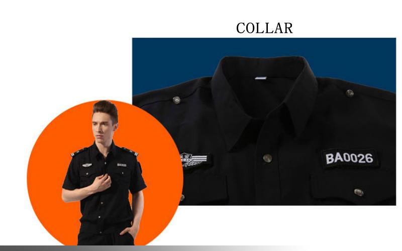 New Design Best Black Color Security Guard Uniform For Sale