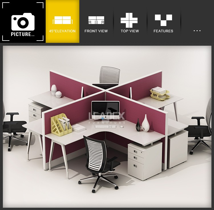 modern office call center 4 person workstation furniture buy 4 rh alibaba com Workstation 4 Seater L-shaped Multi Workstations