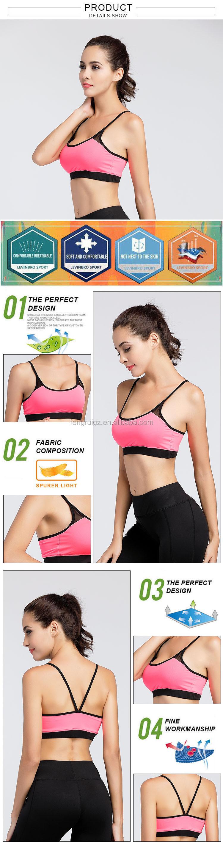 dca92b9ecf Sexy bra and panty new design spandex   polyester material genie sports bra