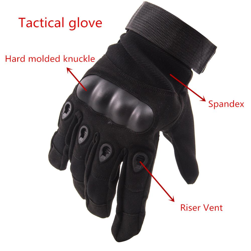 TEGE Wholesale Army Tactical Glove Full-Fnger Nylon Gloves For Military Police Knife Protection