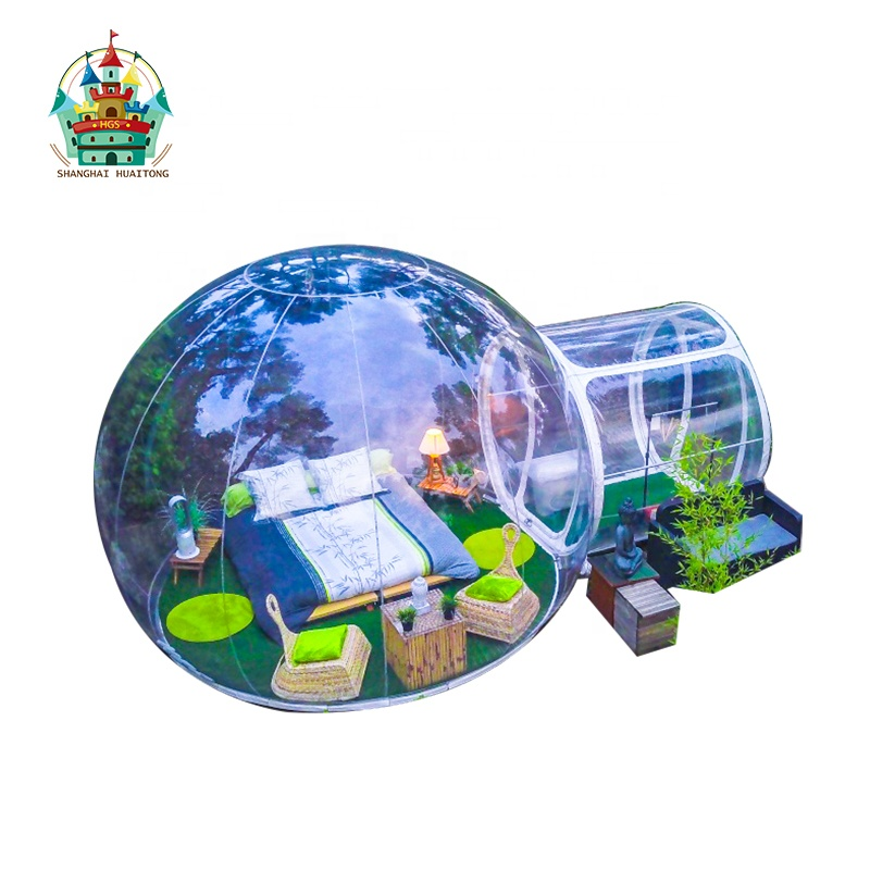 High quality inflatable transparent bubble tent inflatable clear hotel tent for party