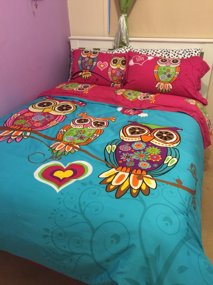 Wholesale 3 Twin Single Kids Owl Bedding Queen King Size Adult Owl