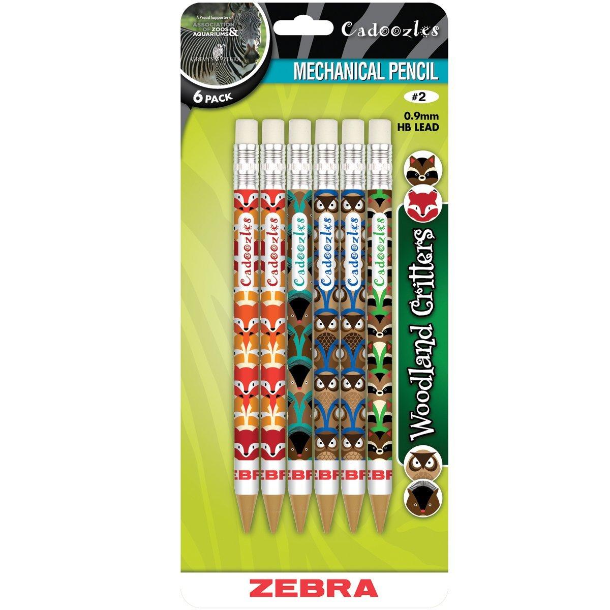 Cadoozles Mechanical Pencils 6/Pkg-Assorted