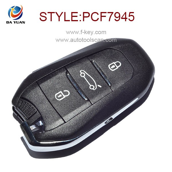 434MHZ <strong>key</strong> for Citroen DS5 DS6 remote control keyless go ID46 chip inside with DS logo AK016019