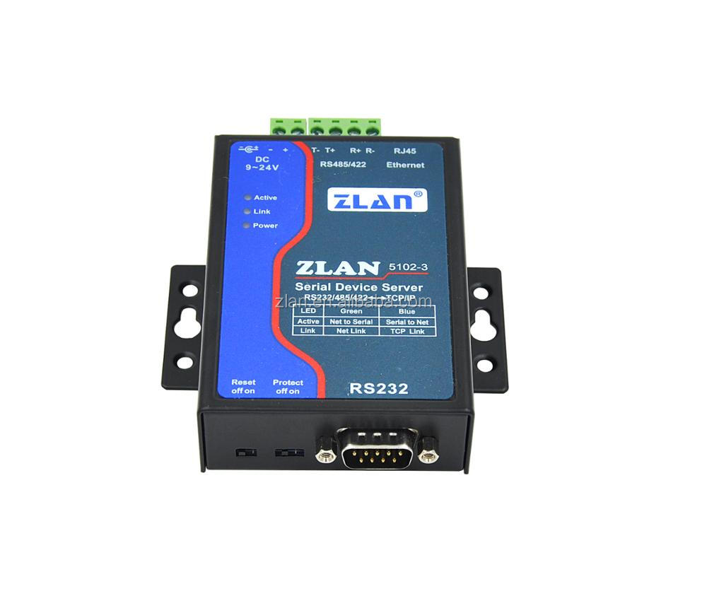 Zlan5102-3 Rs232 Rs485 Rs422 To Tcp/ip Lan 2 Wire Ethernet Converter ...