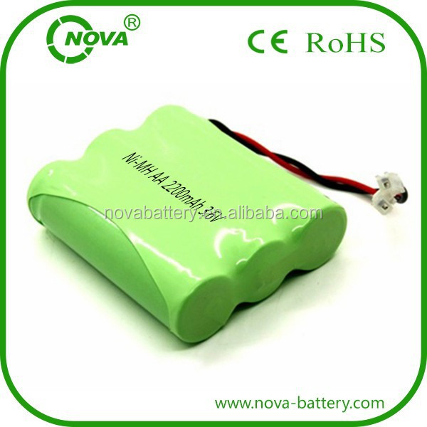Ni-mh Aa Battery 3.6v 2200mah Rechargeable Battery Pack
