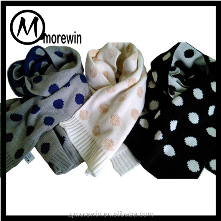 Morewin amazon supplier custom kinds all dots print fashion women scarf