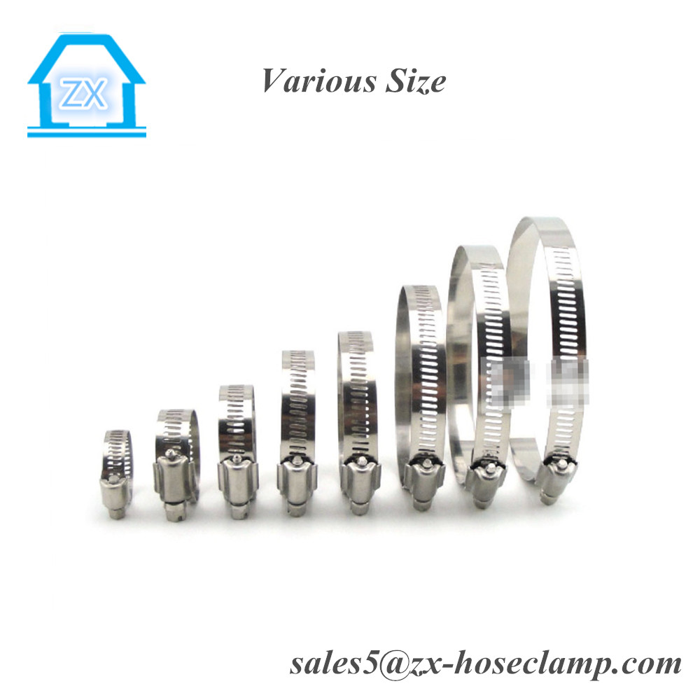 Vacuum Hose Stainless Steel Types Orbit Hose Clips 17-32mm