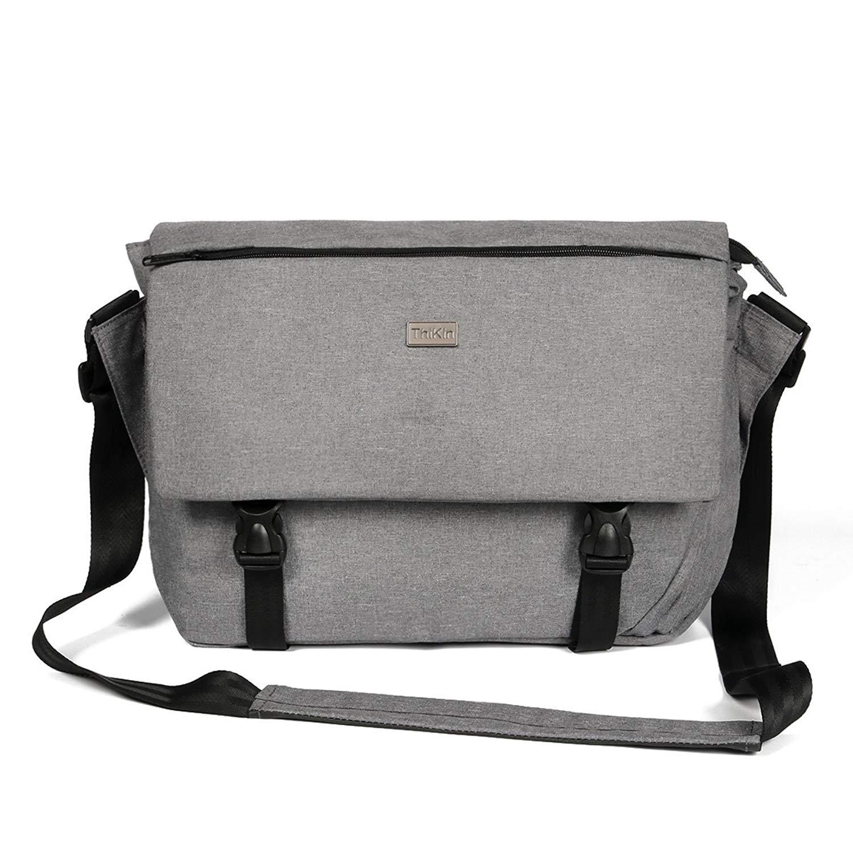 a07cf37bae Get Quotations · Cozeyat Grey Casual Messenger Bags Retro Laptop Shoulder  Bags School College Crossbody Bag Work Travelling