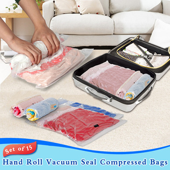 Travel Space Saver Bags For Vacuum Storage Bags No Vacuum Needed