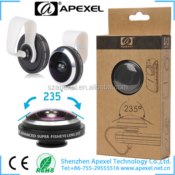 phone fish eye 235 degree Super fisheye lens with multi-layer anti-reflection cotings