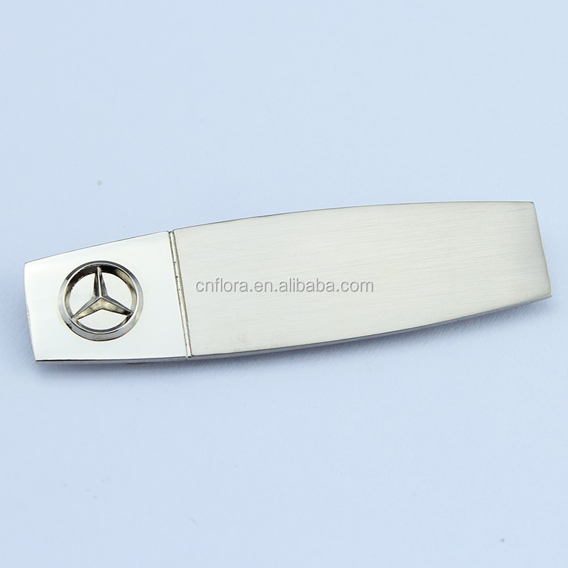 New design promotion custom metal company logo pin name badge with magnet