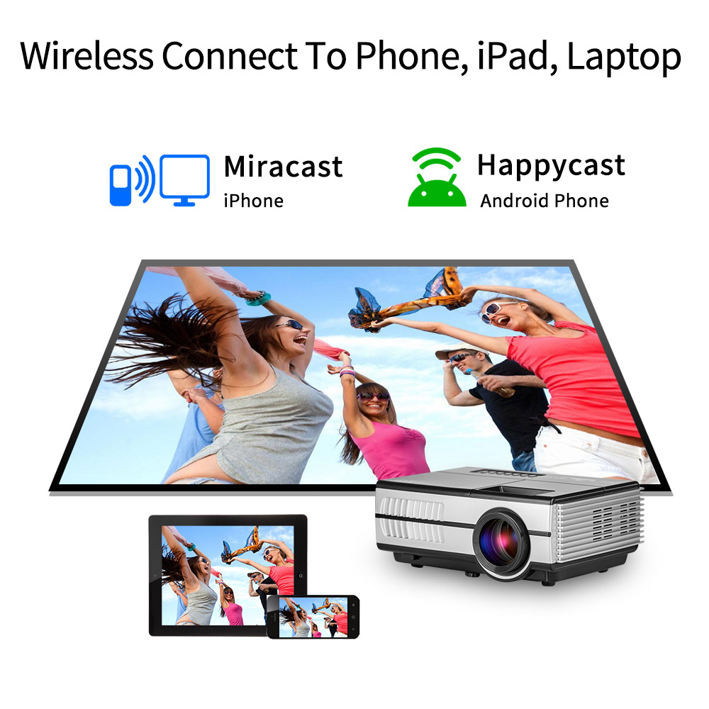smart Android wifi portable video mini portable led projector