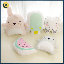 Wholesale oem colorful lovely cartoon animal shape custom floor cushion