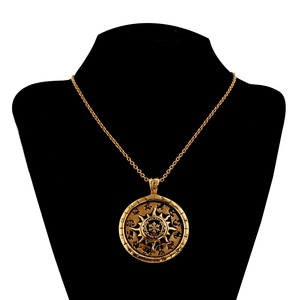 Star gold plating 12 constellations therapy pendant necklace