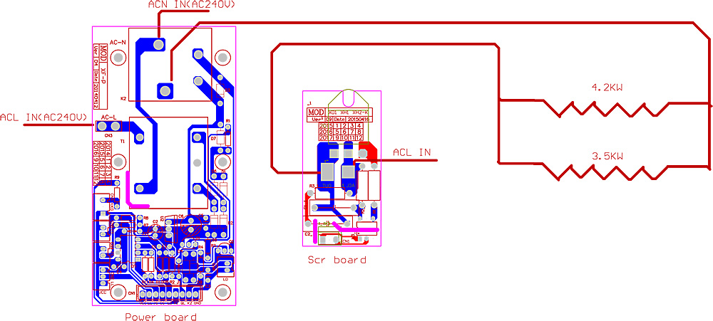 One Phase One Scr Electric Instant Hot Water Heater Pcb