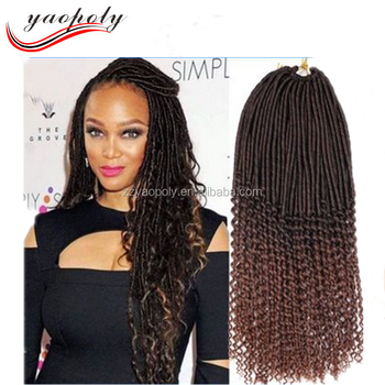 20 Soild Color Straight And Curly 2x Havana Mambo Faux Locs